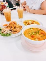 tom yum and thai tea