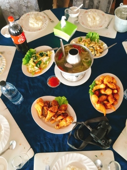 Tempura Koong and soup